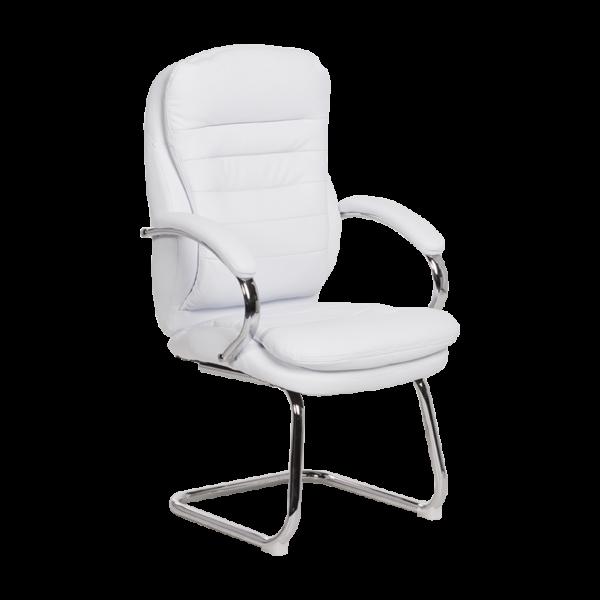 Посетителски стол Carmen 6154 - бял