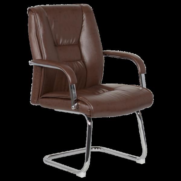 Посетителски стол Carmen 6540 - искрящо кафяв