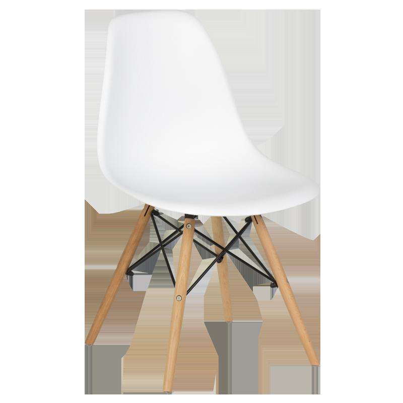 Трапезен стол Carmen 9956 D - бял