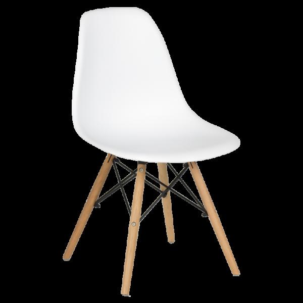 Трапезен стол Carmen 9957 - бял
