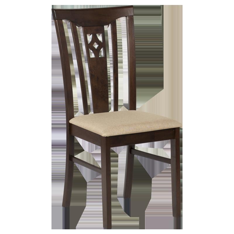 Трапезен стол DIEGO - какао / злато