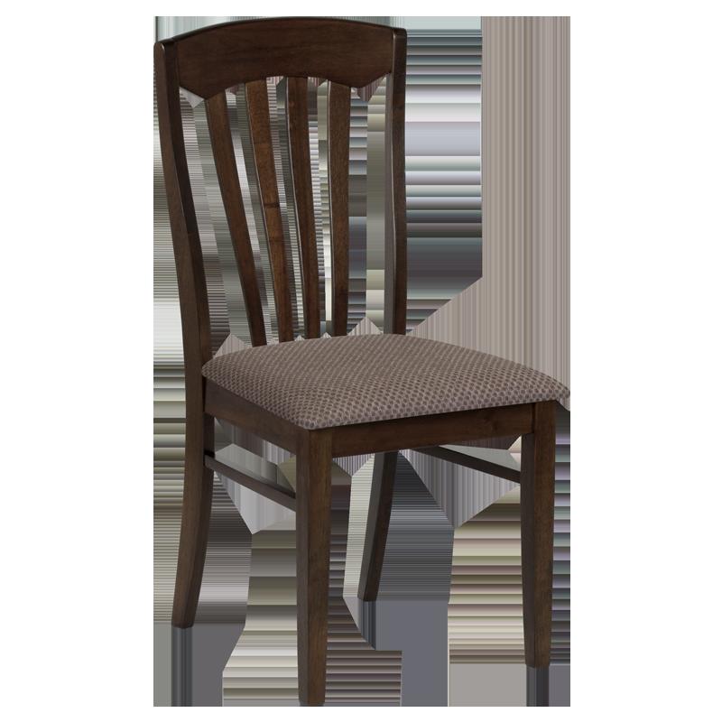 Трапезен стол PALMA - какао / тъмна слама