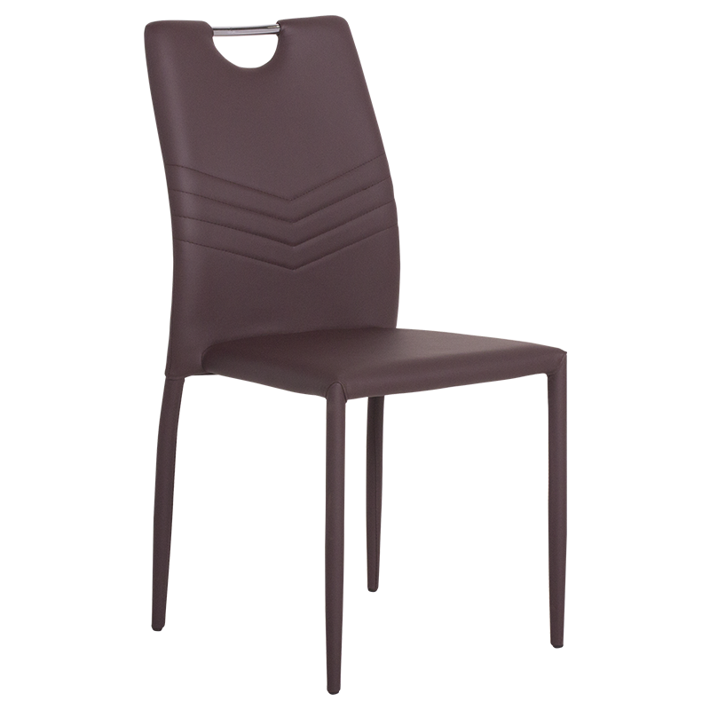 трапезен стол 323 тъмно кафяв