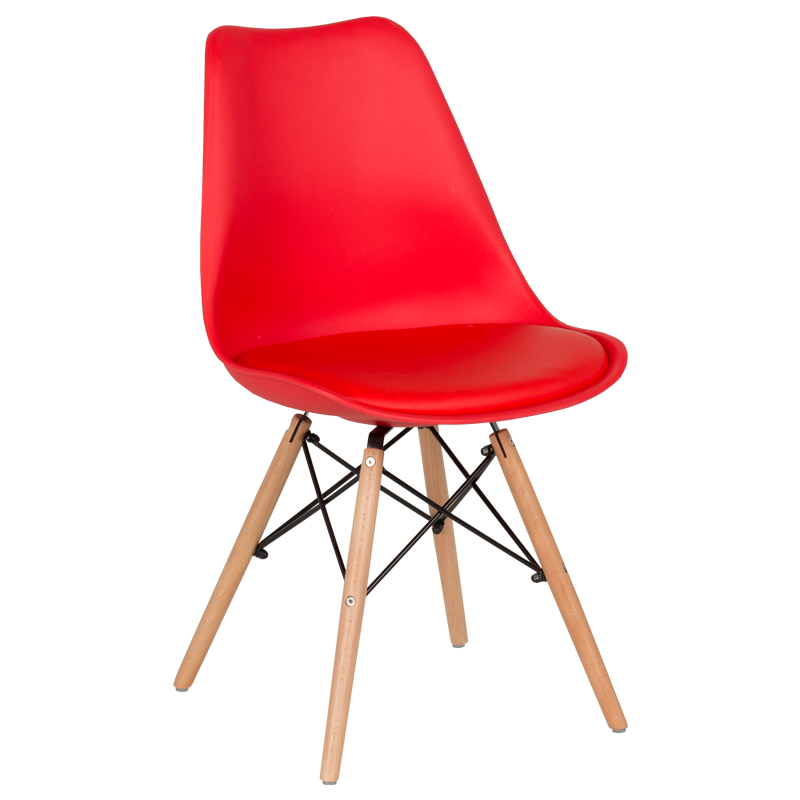 трапезен стол 9960 червен