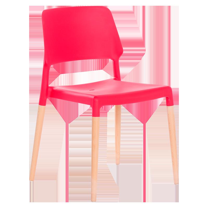 трапезен стол 9967 червен