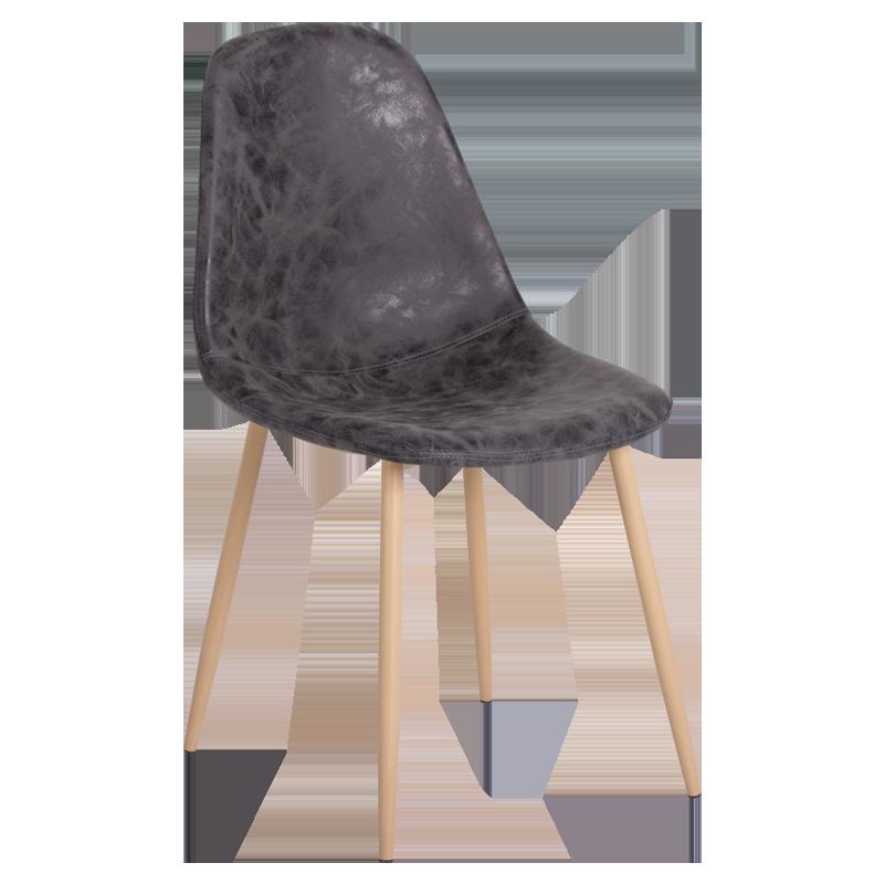 трапезен стол 328 тъмно сив