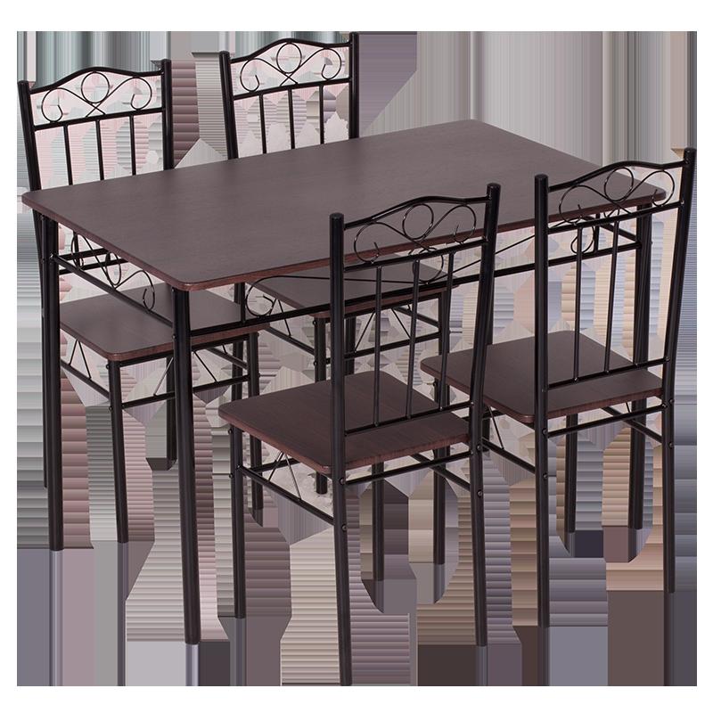 Комплект маса с 4 стола Carmen 20009 G - тъмен орех 2