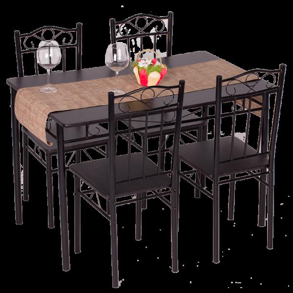 Комплект маса с 4 стола Carmen 20009 G - венге 2