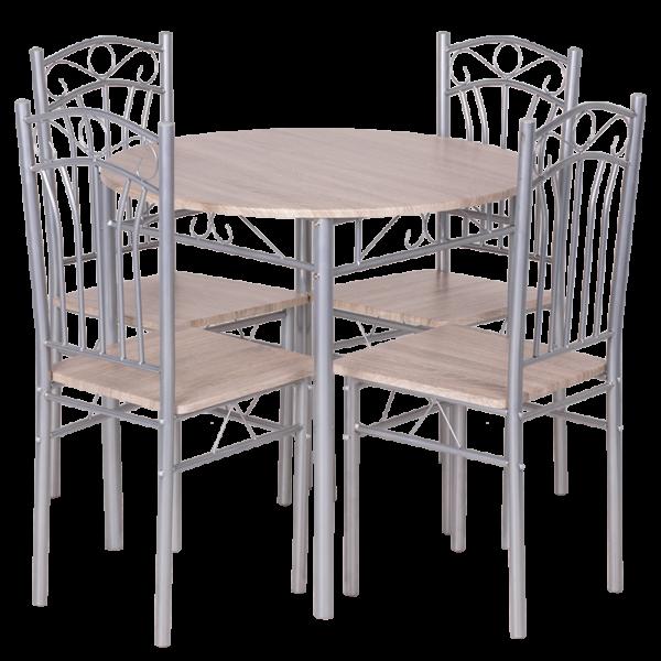 Комплект маса с 4 стола Carmen 20013 - дъб сонома