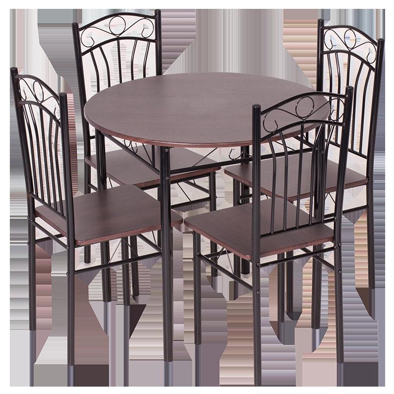 Комплект маса с 4 стола Carmen 20013 - тъмен орех 2