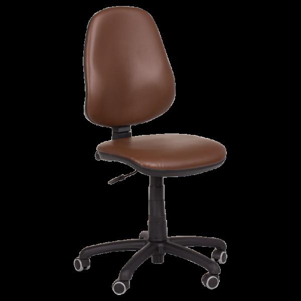 Офис стол Polo (без подлакътници) - тъмно кафяв