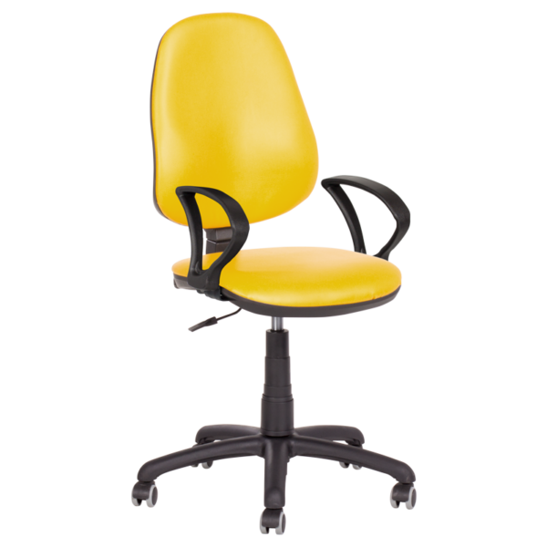 Офис стол Polo (с подлакътници) - жълт